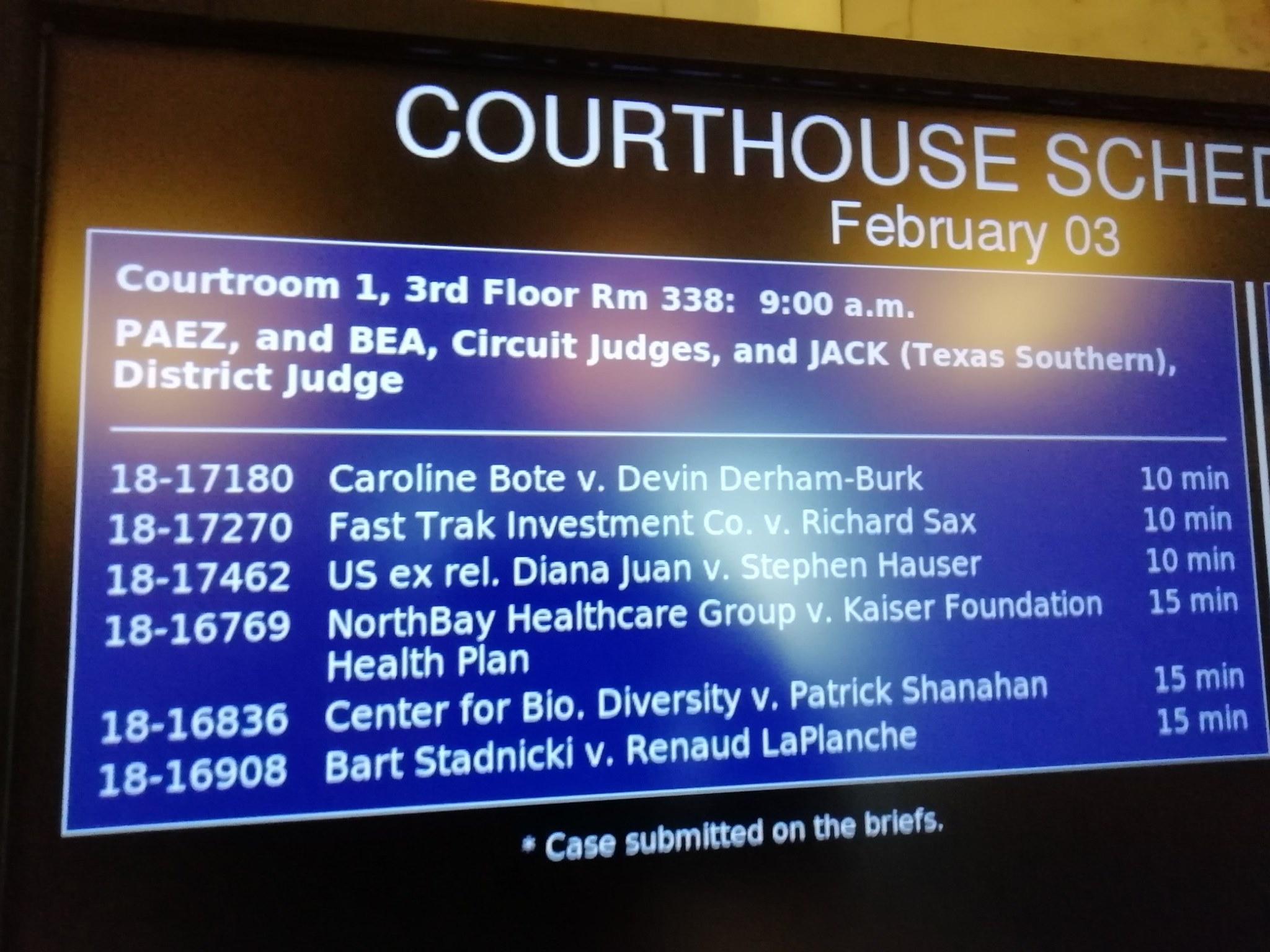 ★レポート★ 米国ジュゴン訴訟、控訴審(第2ラウンド)期日の報告_f0220068_14400267.jpg