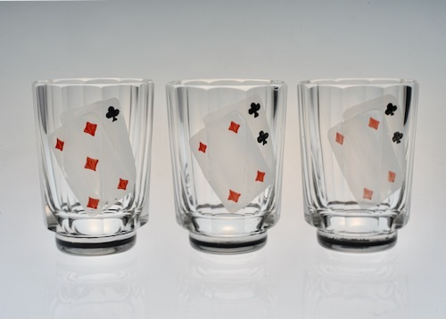 Enamel Playing CARDS SHOT GLASS_c0108595_23523661.jpeg