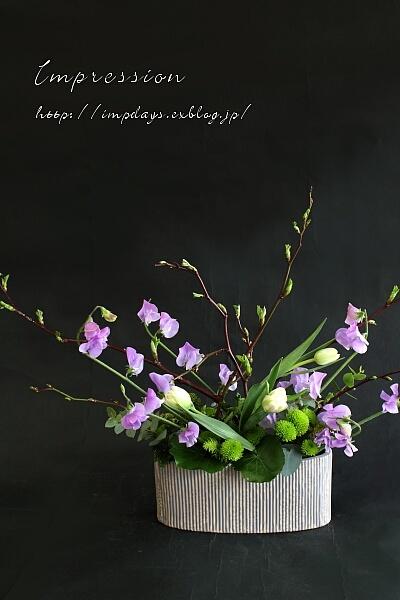 定期装花から スイートピー:グレース_a0085317_21214955.jpg
