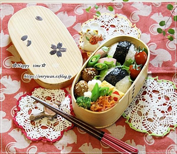 肉味噌おにぎり・肉団子弁当とネイル♪_f0348032_16345030.jpg