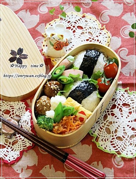 肉味噌おにぎり・肉団子弁当とネイル♪_f0348032_16345644.jpg