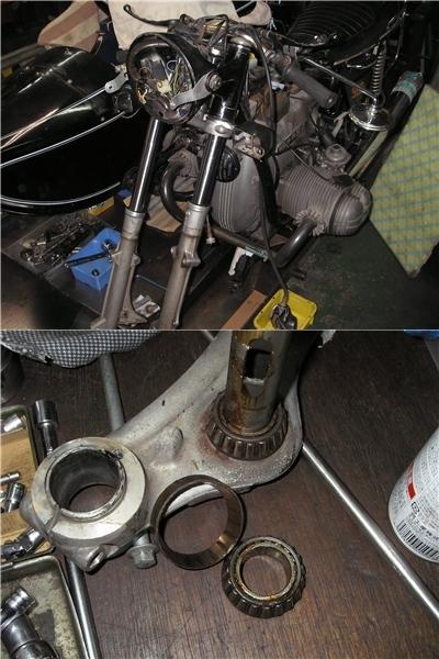 BMW  R90/6+バイワーゲン サイドブレーキとアールズフォーク_e0218639_10254333.jpg