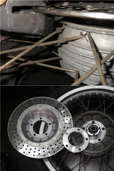 BMW  R90/6+バイワーゲン サイドブレーキとアールズフォーク_e0218639_10272709.jpg