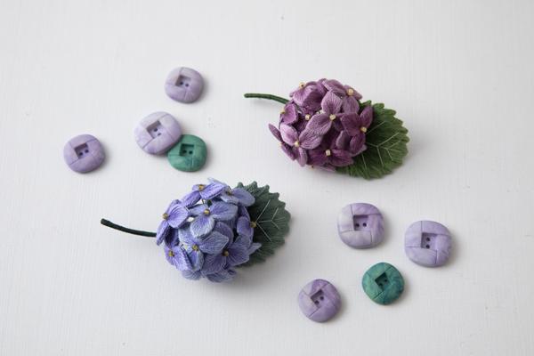 動画通信講座CRAFTINGの課題~パート3紫陽花のコサージュ~_e0333647_15405448.jpg