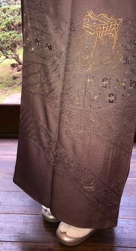 新年会のお客様・お洒落な道中着に汕頭刺繍訪問着。_f0181251_18260678.jpg