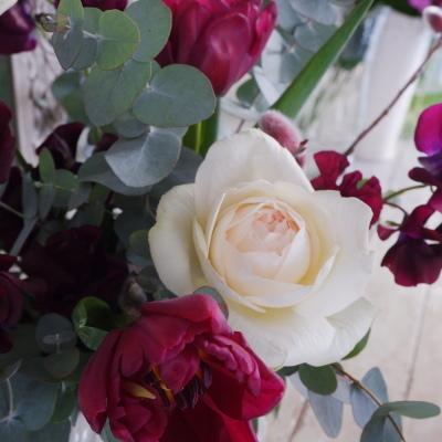 オークリーフ花の教室(山田さんの作品)_f0049672_15573315.jpg