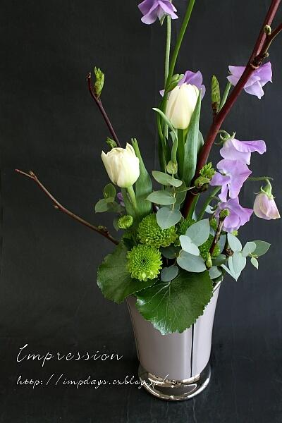 定期装花から チューリップ:ノースキャップ_a0085317_21411693.jpg
