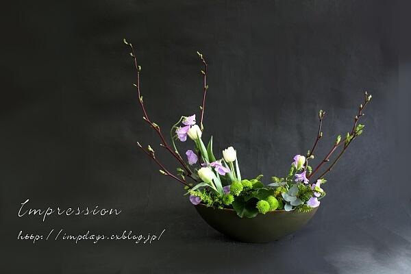 定期装花から チューリップ:ノースキャップ_a0085317_21413609.jpg