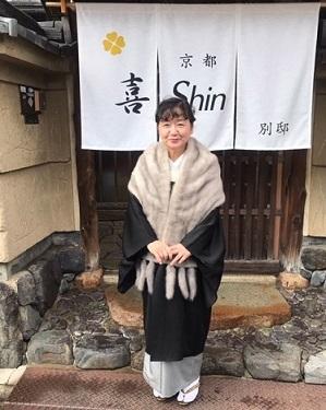 新年会・野田淳子さん・芝崎重一着物に楽風林帯。_f0181251_15273207.jpg