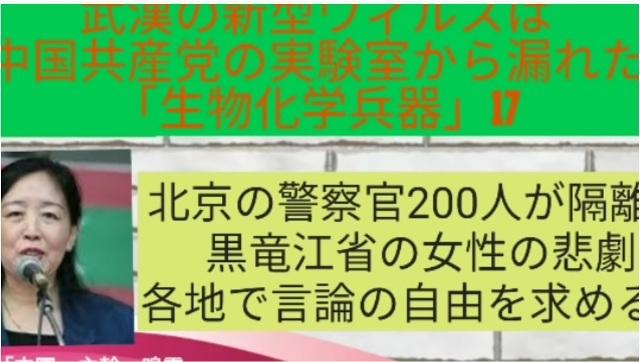 鳴霞さんが語る新型肺炎(武漢肺炎)の現状_d0083068_12075048.jpg