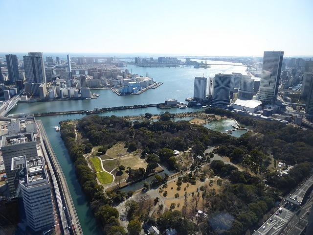 浜離宮に行く時は上から眺めてみたら♪カレッタ汐留のスカイビュー♪_b0287088_16063454.jpg