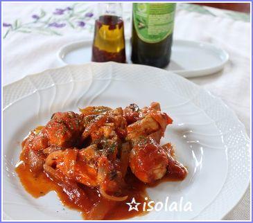 地鶏肉のピリ辛煮 カラブリア風☆_a0154793_11212033.jpg