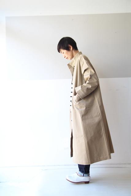 Linen yaのスタンドカラーコート_f0215708_10391203.jpg