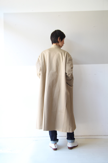 Linen yaのスタンドカラーコート_f0215708_10391386.jpg