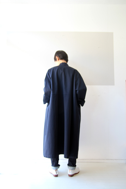 Linen yaのスタンドカラーコート_f0215708_10392241.jpg