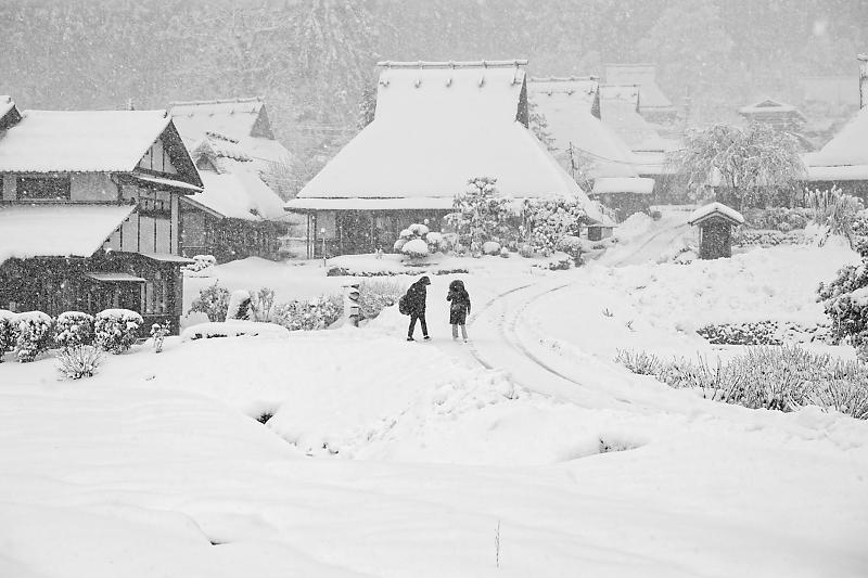 寒波到来!待望の雪景色@美山茅葺きの里 其の二_f0032011_16191090.jpg