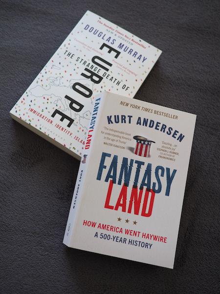 欧米の過去、そして現在を知るためのノンフィクション2冊 「西洋の自死」「ファンタジーランド」_e0414617_10533621.jpeg