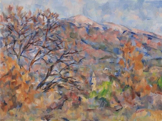 ヴァントゥー山と大きな木_c0236929_19283977.jpg