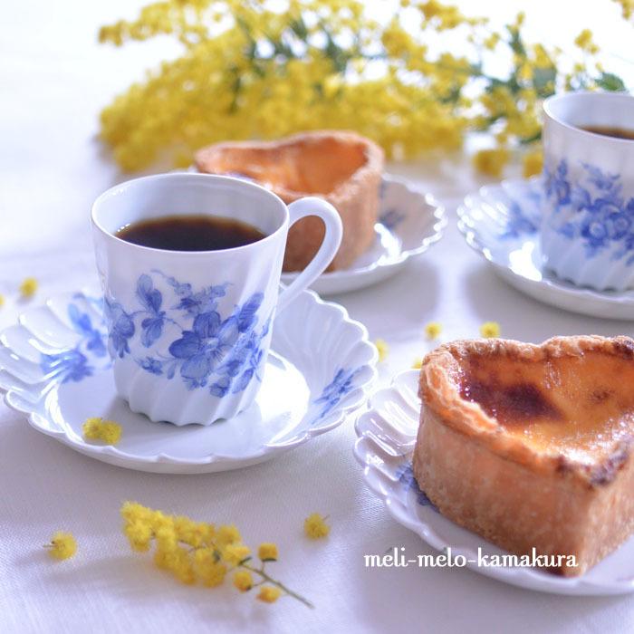 ◆フランスアンティーク*ミモザとお菓子とコーヒーと。_f0251032_16183326.jpg