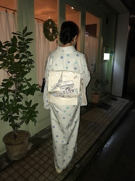 バレンタイン・着物でラニオンさん・杉村チョコレート帯。_f0181251_18593438.jpg