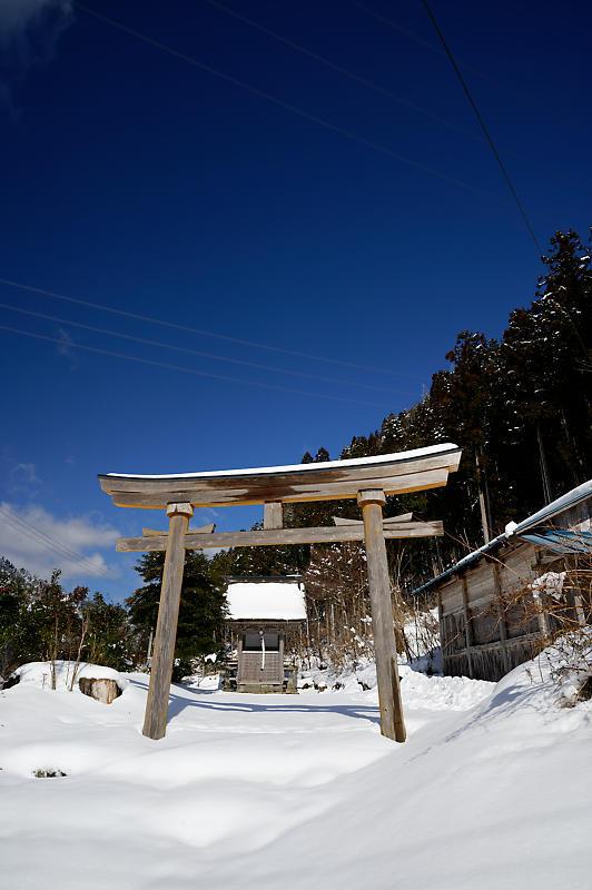 再びの雪景色!@久多_f0032011_16432164.jpg