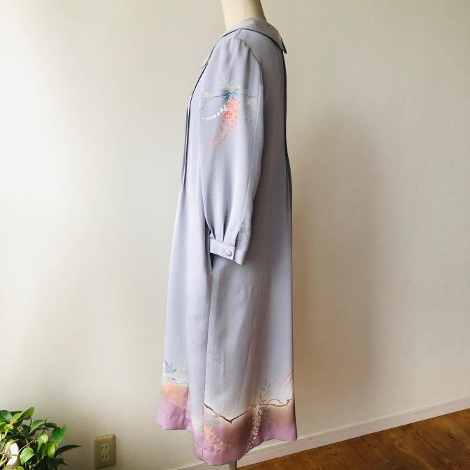 着物着物リメイク・お着物からピンタックのワンピースコート_d0127925_11511299.jpg