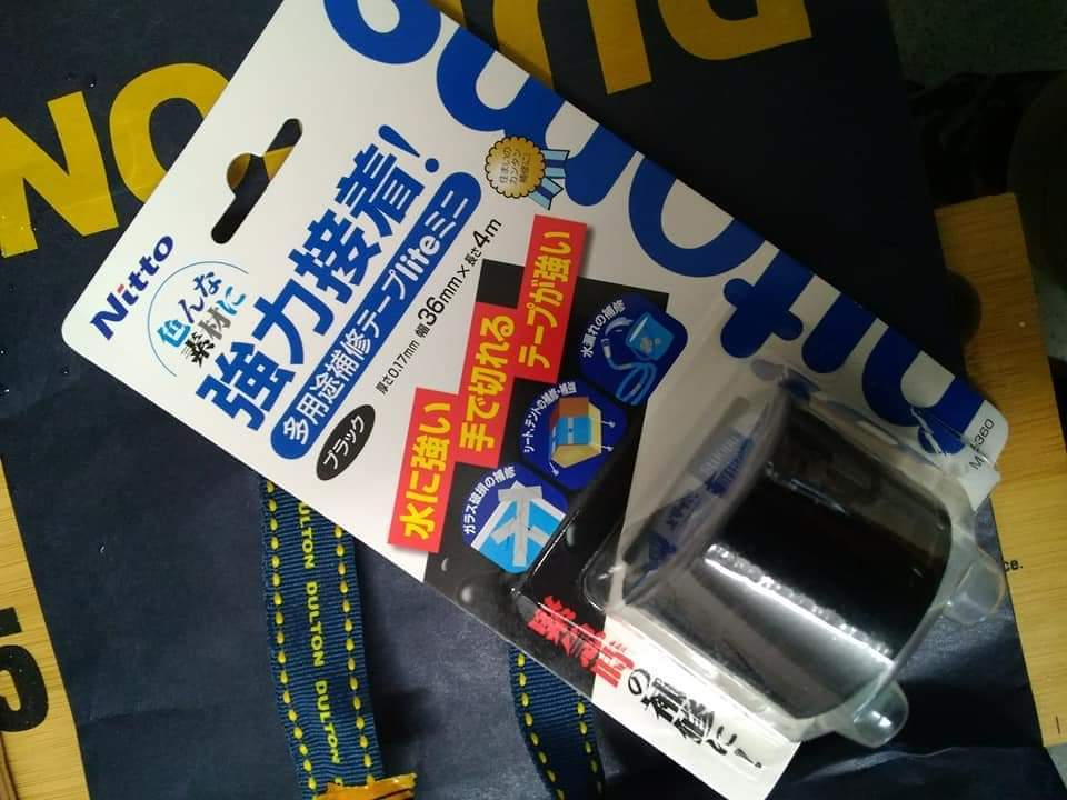 【Nitto】 多用途 補修テープ lite ミニ ブラック 品番M 5360_f0010639_17320669.jpg