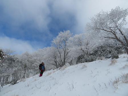 紺碧なお空の下で真っ白な雪山を楽しむ~【台高】2/11_d0387443_14132742.jpg