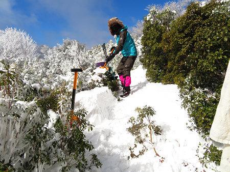 紺碧なお空の下で真っ白な雪山を楽しむ~【台高】2/11_d0387443_14133342.jpg