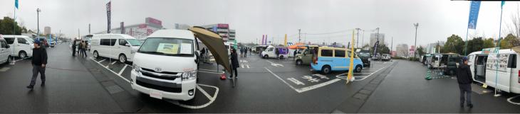浦和美園イオン駐車場にて関東キャンピングカー商談会で来てました。_e0225148_15295000.jpg
