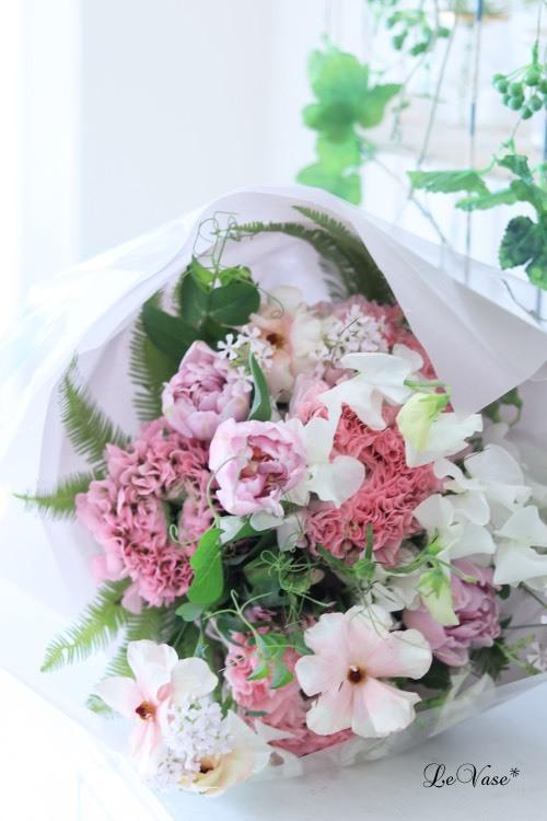 大人ピンクのブーケ♡_e0158653_22462045.jpg