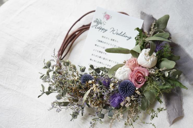 ご結婚祝いのフラワー電報に!_a0136507_21564721.jpg