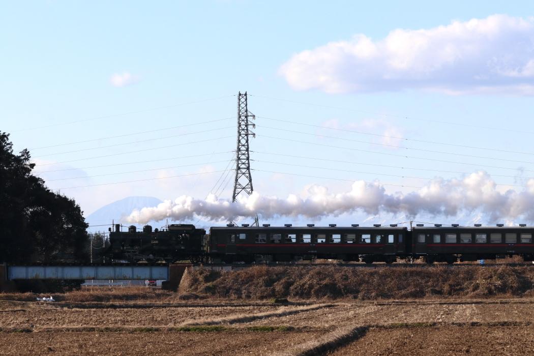 男体山を背景に白煙 - 2020年・真岡鉄道 -_b0190710_22595010.jpg
