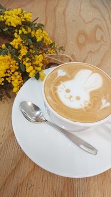 ミモザリース作りプラスカフェで朝活_f0365636_15582795.jpg