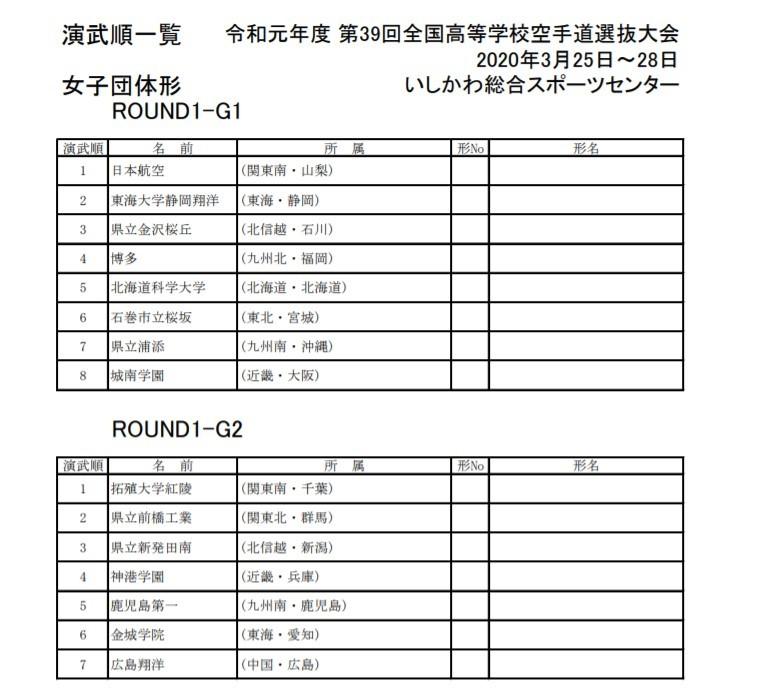 トーナメント公開 39th全国高校選抜空手道 IN 石川_e0238098_12392160.jpg