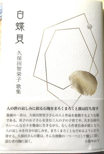 久保田智栄子歌集『白蝶貝』  藤野早苗_f0371014_12014519.jpg