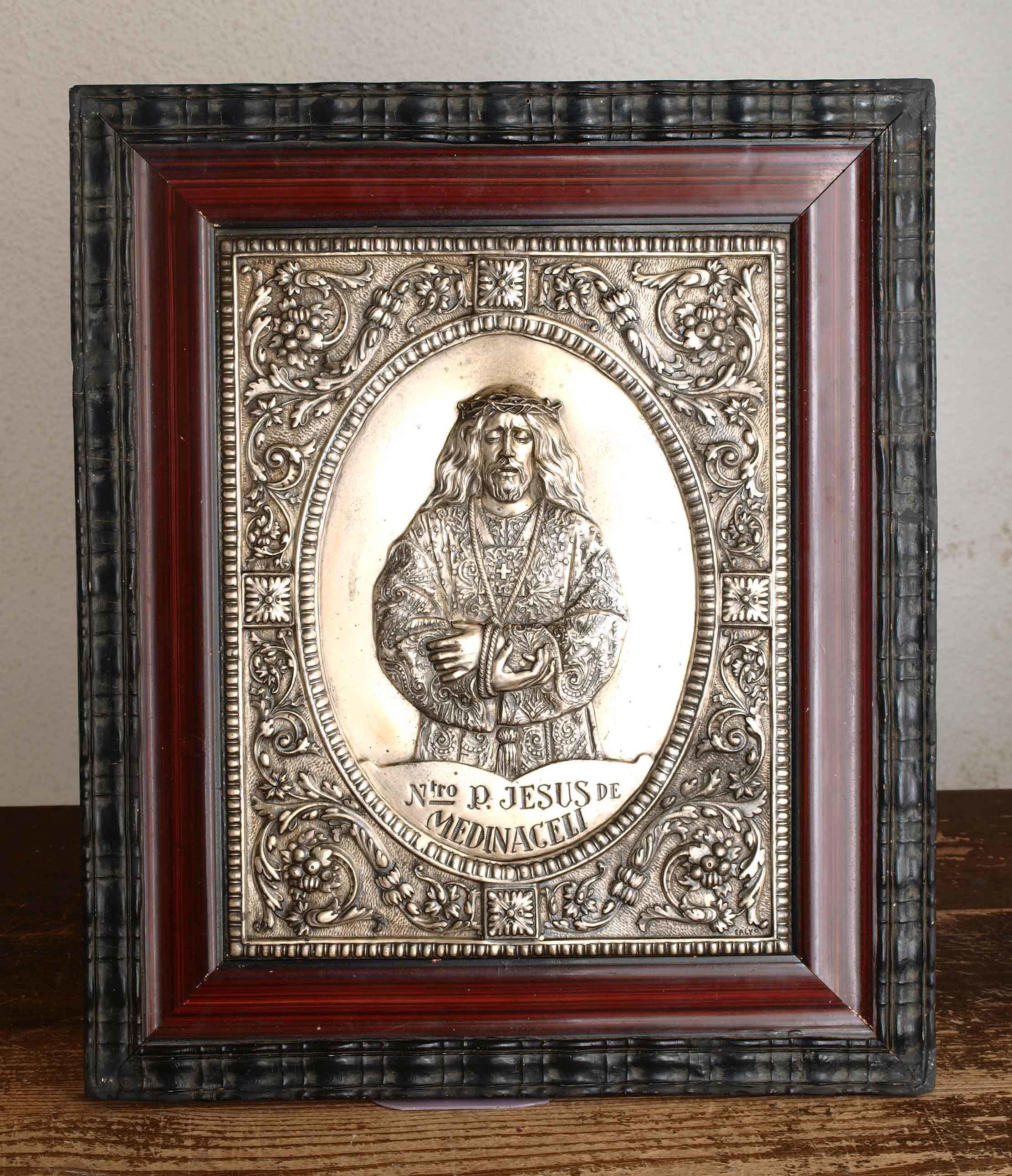 メディナセリのイエスキリスト レリーフ 41.7cm×35.2cm /G904_e0324838_00011932.jpg