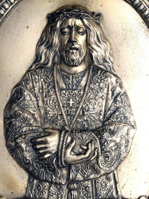 メディナセリのイエスキリスト レリーフ 41.7cm×35.2cm /G904_e0324838_00015894.jpg