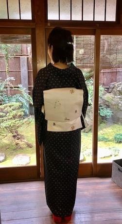 新年会・ぼよさん・ハートと丸の小紋に玩具の帯。_f0181251_18164134.jpg