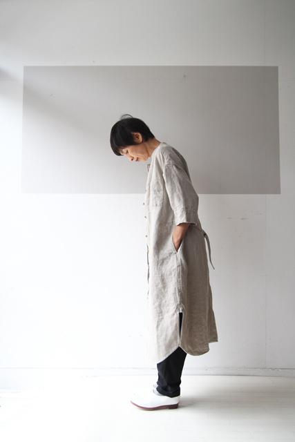 5分袖のシャツワンピース_f0215708_14364071.jpg