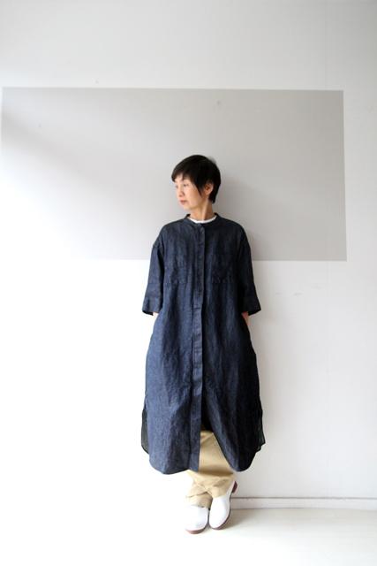 5分袖のシャツワンピース_f0215708_14364883.jpg