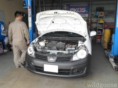 VAY12 ADバン 車検整備中\(・_・、)_c0213517_15405855.jpg