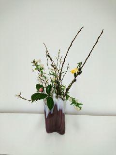 お花を楽しんで 子供のいけばな_c0165824_15113447.jpg