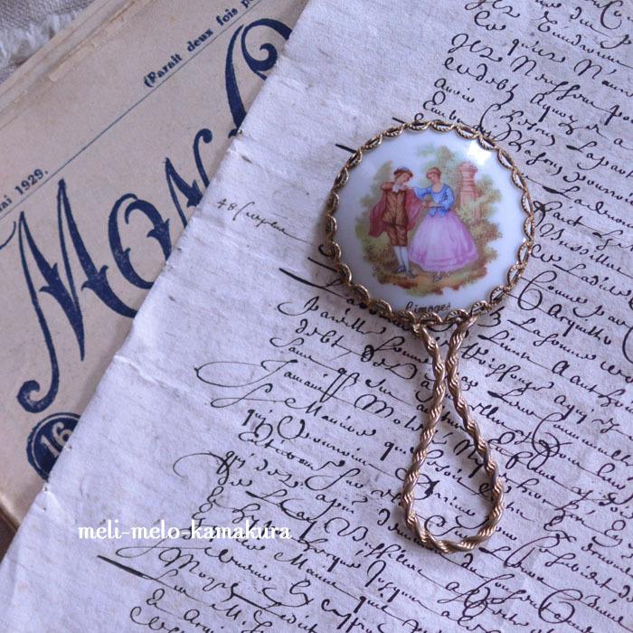 ◆フランスアンティーク*リモージュの小さな手鏡♡_f0251032_17391980.jpg
