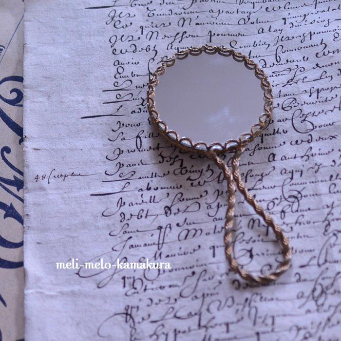 ◆フランスアンティーク*リモージュの小さな手鏡♡_f0251032_17411828.jpg