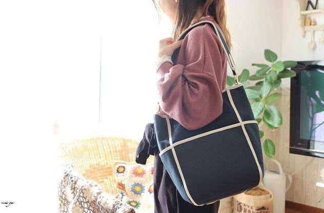 【ヴォーグ学園横浜校】制作中のバッグとマスクゴム。_f0023333_22434670.jpg