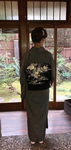 新年会・上手に染め変えられた鮫小紋に野口御所解帯。_f0181251_19130785.jpg