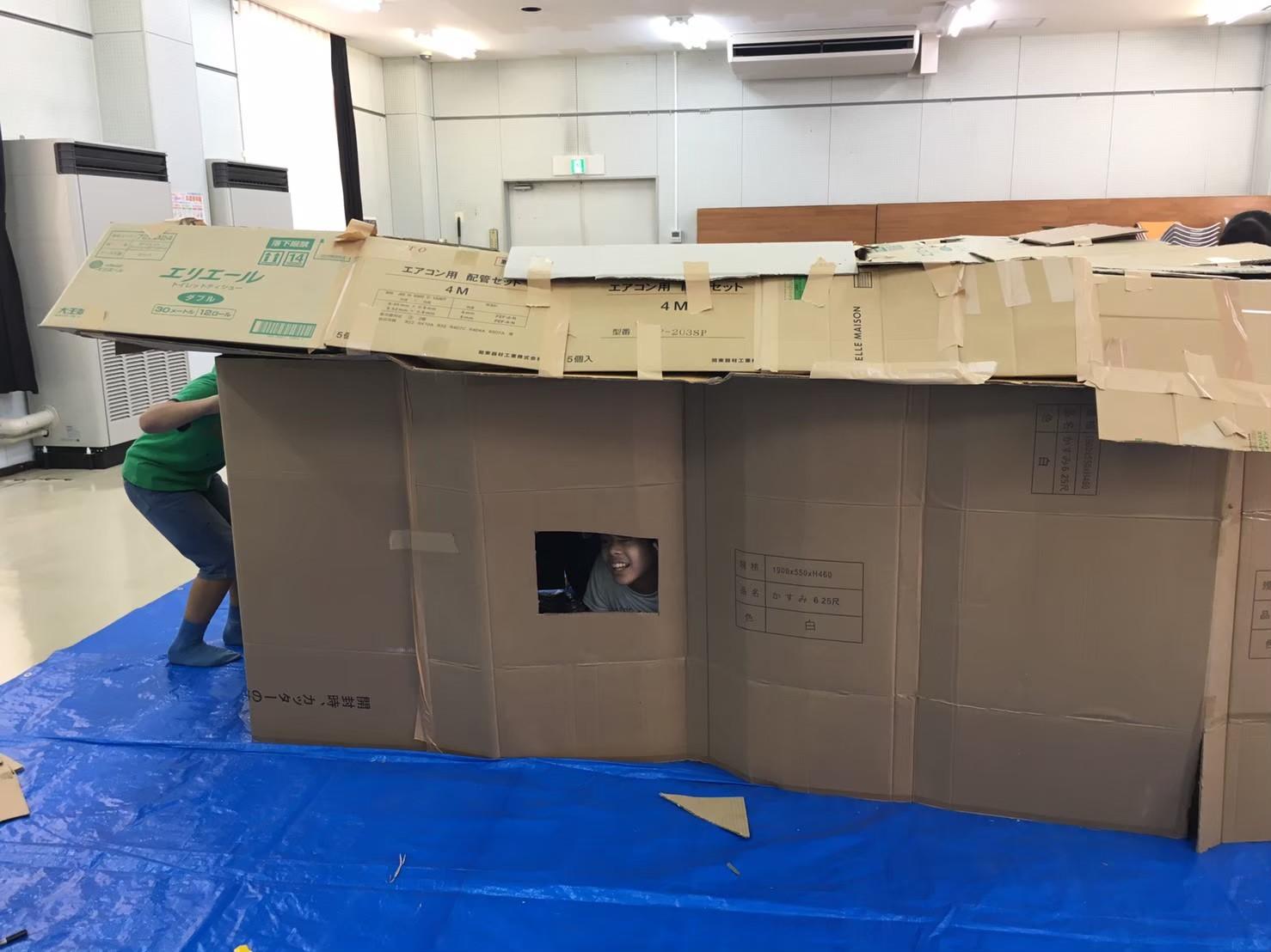 2019/9/8 ダンボールハウス作り_e0123469_23200720.jpg