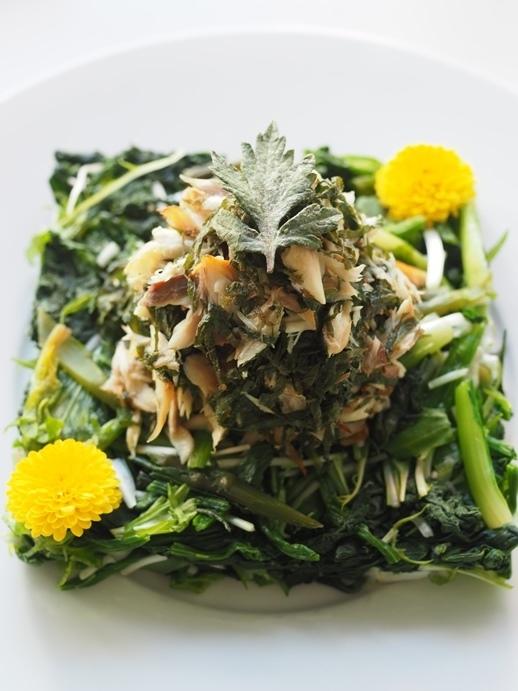 青魚と青菜の酢和え_e0148373_15222546.jpg