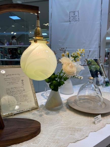 Bocciolo展 中野由紀子さんのランプ_b0353974_20105635.jpg